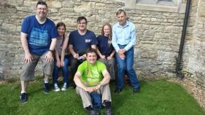 Paul Crombleholme, Hannah Crombleholme, Simon J O Head, Rose Nightingale, Richard Booth. Front - Peter Tribble