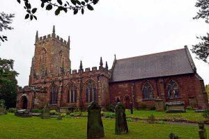 St Peter's, Edgmond - (8 bells, 9cwt, rung from the ground floor).