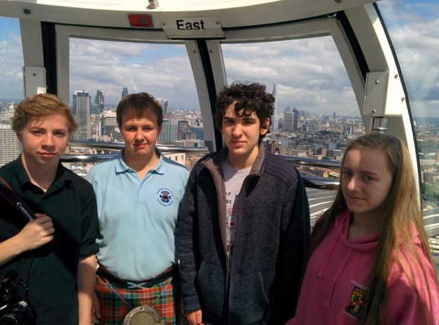 Tartan Spartans on the London Eye