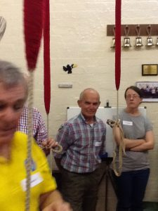 We were pleased to be joined by Andy Cope and Laura Thompson from the new ringing centre at All Souls', Bolton