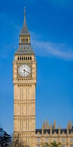 The Clock Tower at the Palace of Westminster. Photo by DAVID ILIFF. License: CC-BY-SA 3.0