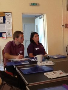 In the classroom: James Wormleighton and Stacey Ashfield, (newcomers to teaching) were attentive and eager to learn.