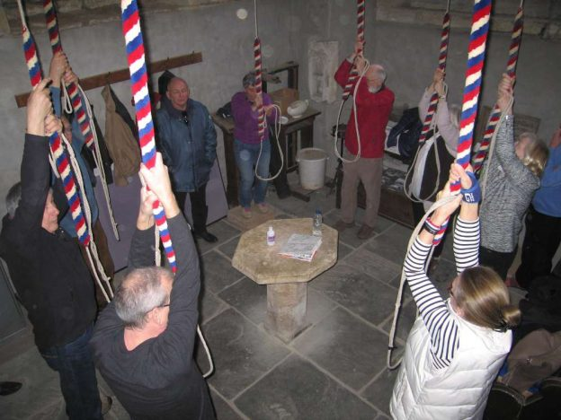 Ringing at Saintbury - Photograph by Mike Rigby