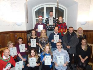 Stanford Resourcing Staff with their Certificates at St Magnus